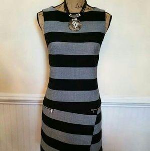 Banana Republic black & grey asymmetrical dress
